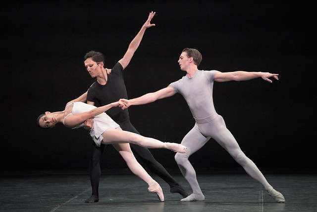 Tamara Rojo, Jeffrey Cirio and Joseph Caley in Song of the Earth © Laurent Liotardo