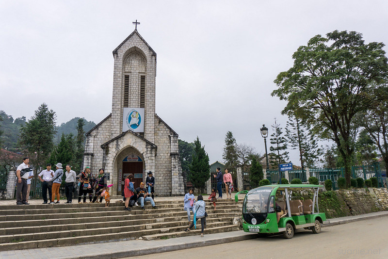 Sapa, Vietnam - church in town