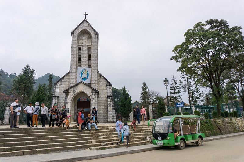 Sapa, Vietnam - church in town