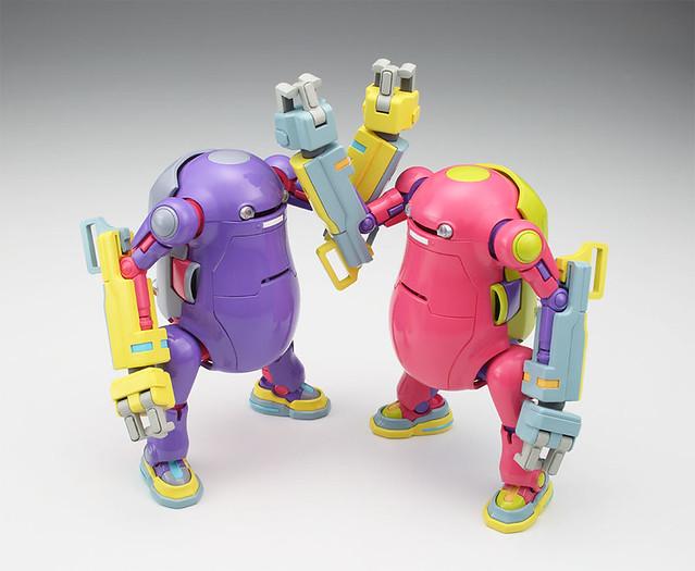 """長谷川《35機動機器人》機械動力手臂「紫色&粉紅色」最新版本 1/35比例組裝模型 メカトロウィーゴ No.07 ぱわーあーむ """"ぱーぷる&ぴんく"""""""