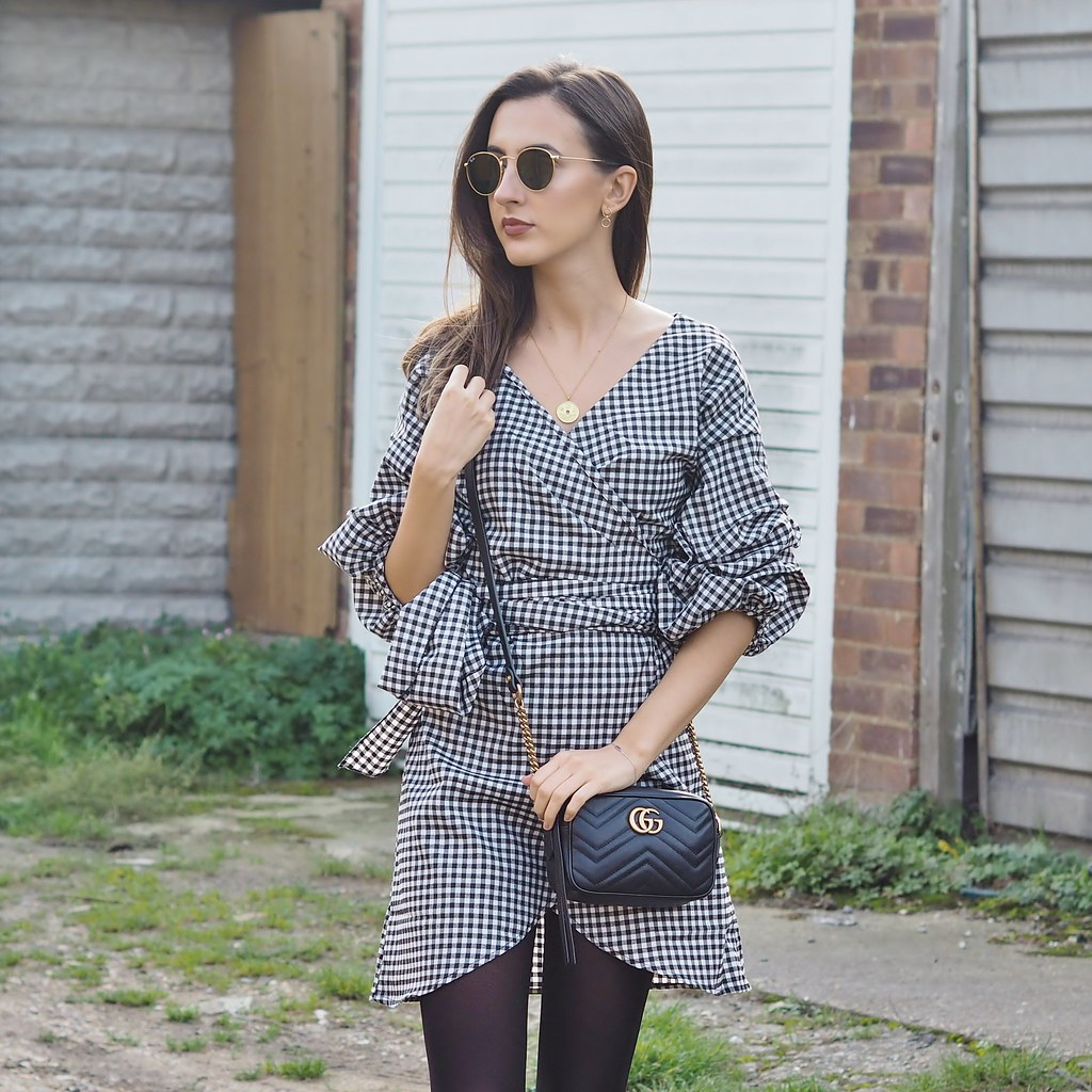 BOOHOO WRAP DRESS OOTD