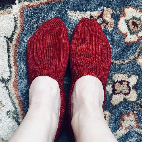 Ravelry Red footie socks