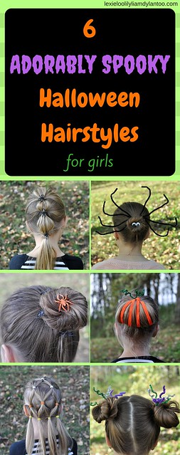 6 Adorably Spooky Hairstyles for Girls - How To Guide #hairstyles #girls #halloween