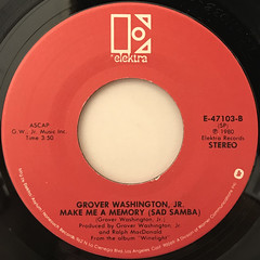 GROVER WASHINGTON JR.:JUST THE TWO OF US(LABE SIDE-B)