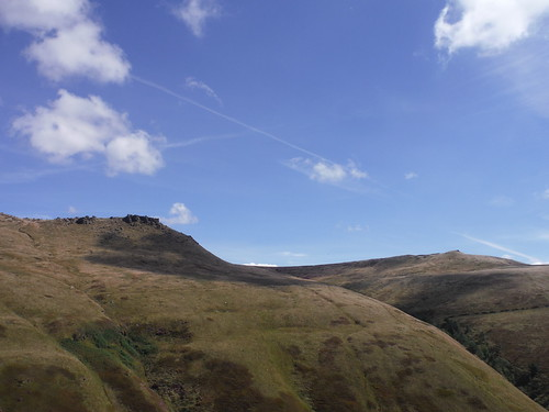 Wool Packs and Crowden Tower, from Top of Jacob's Ladder