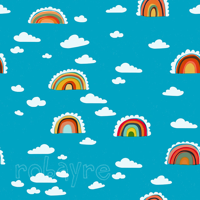 Rainbow cloud pattern robayre