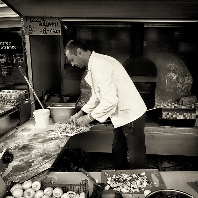 fast food at weekly market