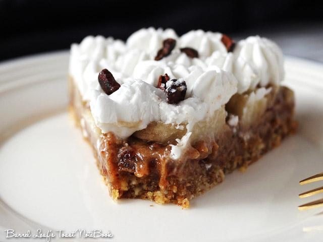 純素香蕉太妃派 Vegan Banoffee Pie (5)