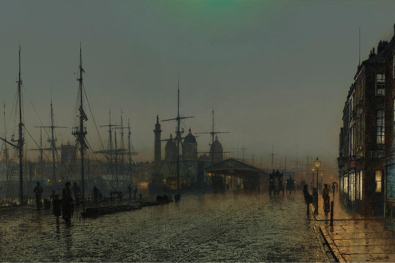 Hull Docks at Night by John Atkinson Grimshaw