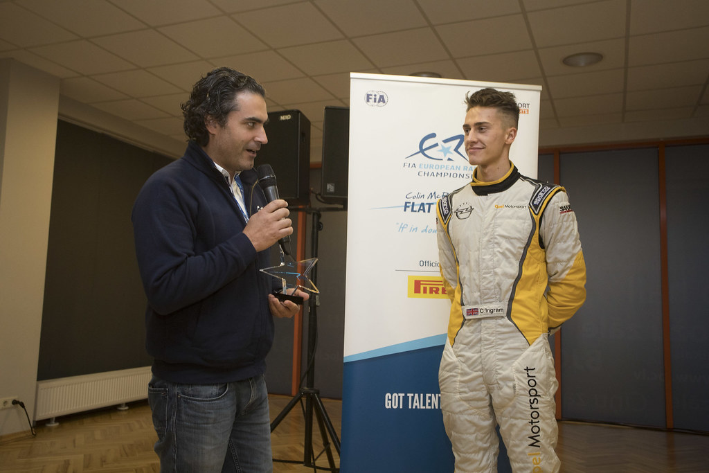 Colin Mc Rae flat out trophy  Ingram Chris , Opel Rallye Junior Team, Opel Adam R2 ERC Junior U27 ambiance portraitambiance during the 2017 European Rally Championship ERC Liepaja rally,  from october 6 to 8, at Liepaja, Lettonie - Photo Gregory Lenormand / DPPI