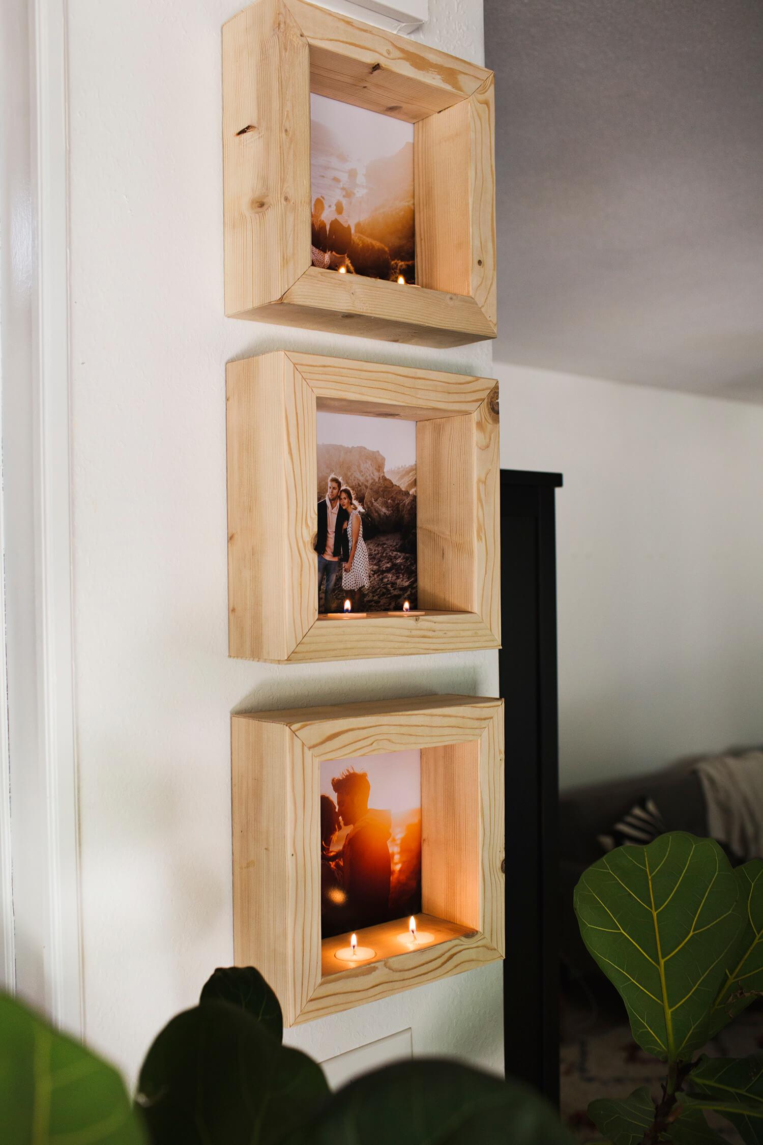 DIY: Marco de fotos con velas efecto hygge | ba2 Proyectos