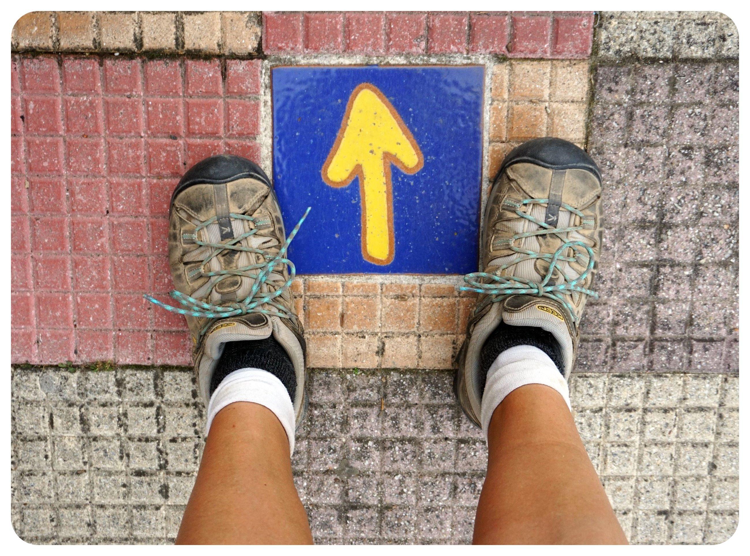 camino de santiago yellow arrow
