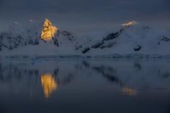 Sunrise in Paradise Bay, Antarctica