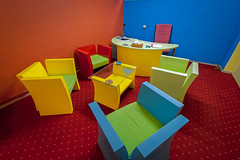 Colorful office in the Gaza Strip