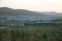 Passenger train in Rajin (Rason)