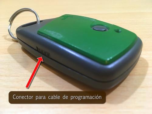 conector programacion mando de garaje