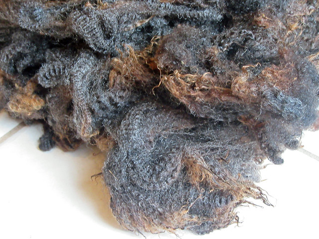 Locks of raw wool from Romney lamb fleece Willow Farm by irieknit