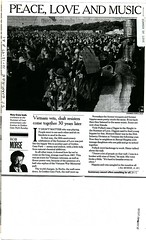 """Peace, Love and Music, Vietnam Vets, Draft Resisters Come Together 30 Years Later"", San Francisco Examiner, October 1997, 1 of 2"
