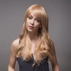 8 Colors Remy Mono Blonde Human Hair Wig Side Bang Long Virgin Top Capless 60cm (1067259) #Banggood