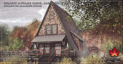 Trompe Loeil - Delaney A-Frame Cabin, Camp Couch & Chair Set for Collabor88 October