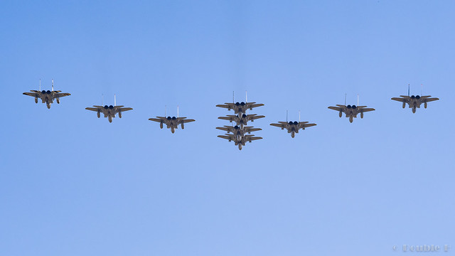 Komatsu AB Airshow Rehearsal 2017.9.14 (35) F-15 formation flight (Fly by Flight) Part 1