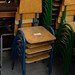 Kids metal and wood chair 150 in stock E12