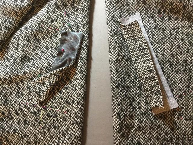Waffle coat pocket