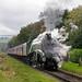 Class A4, 60009 'Union of South Africa' works 1J57 Heywood to Rawtenstall, East Lancashire Railway, Autumn steam gala, 15.10.2017
