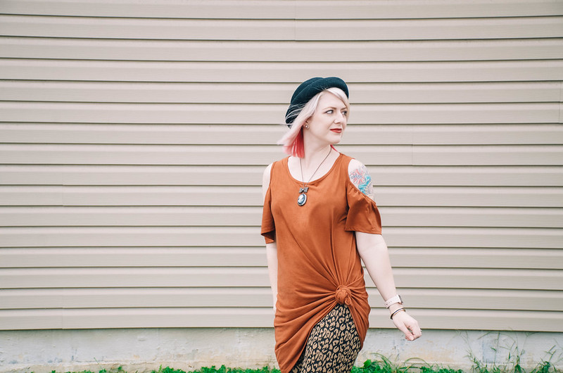 What I Wore: Orange & Leopard