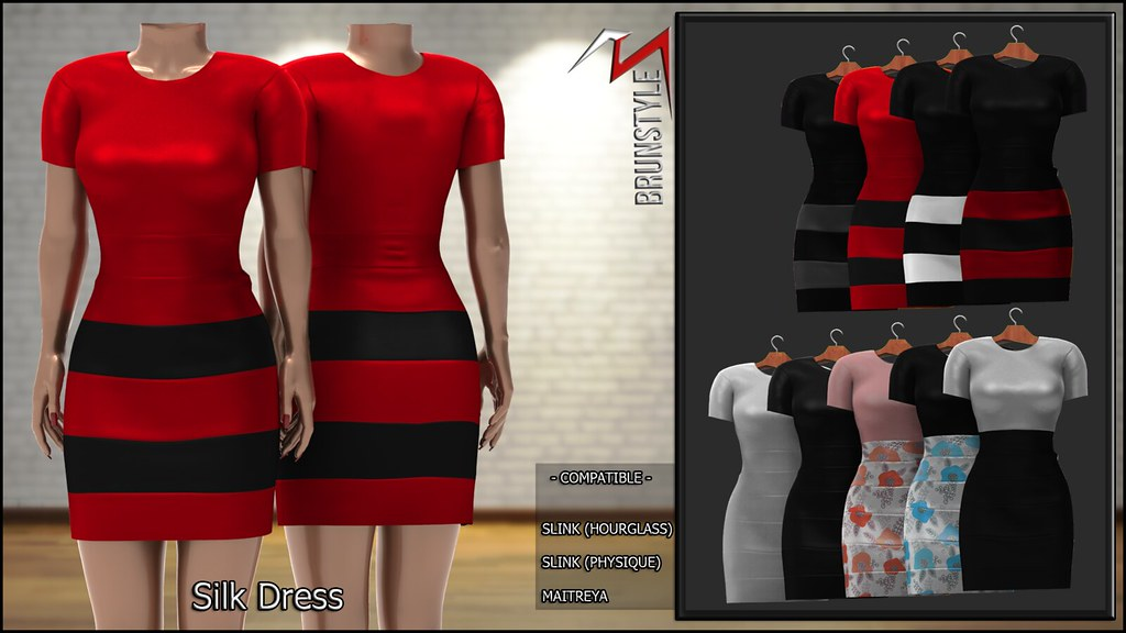 [BrunStyle] Silk Dress (Fitted Mesh)