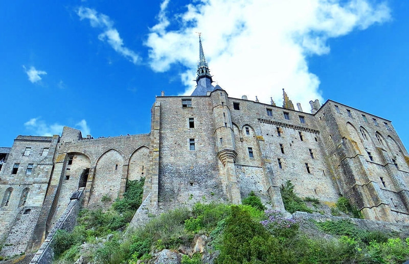 Abbey of Mont Saint-Michel north face. Credit Ibex73