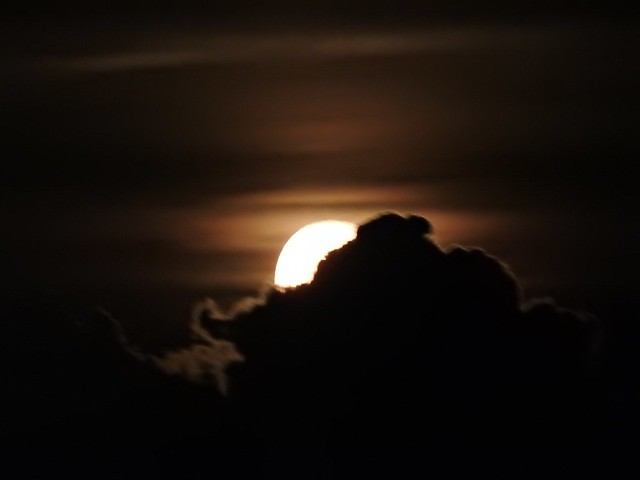 No edit Silhouette Nature Beauty In Nature Night Outdoors Scenics Sunset Sky Close-up No People Astronomy JustGPhotos Moon Moon Shots Clouds And Moon Rising