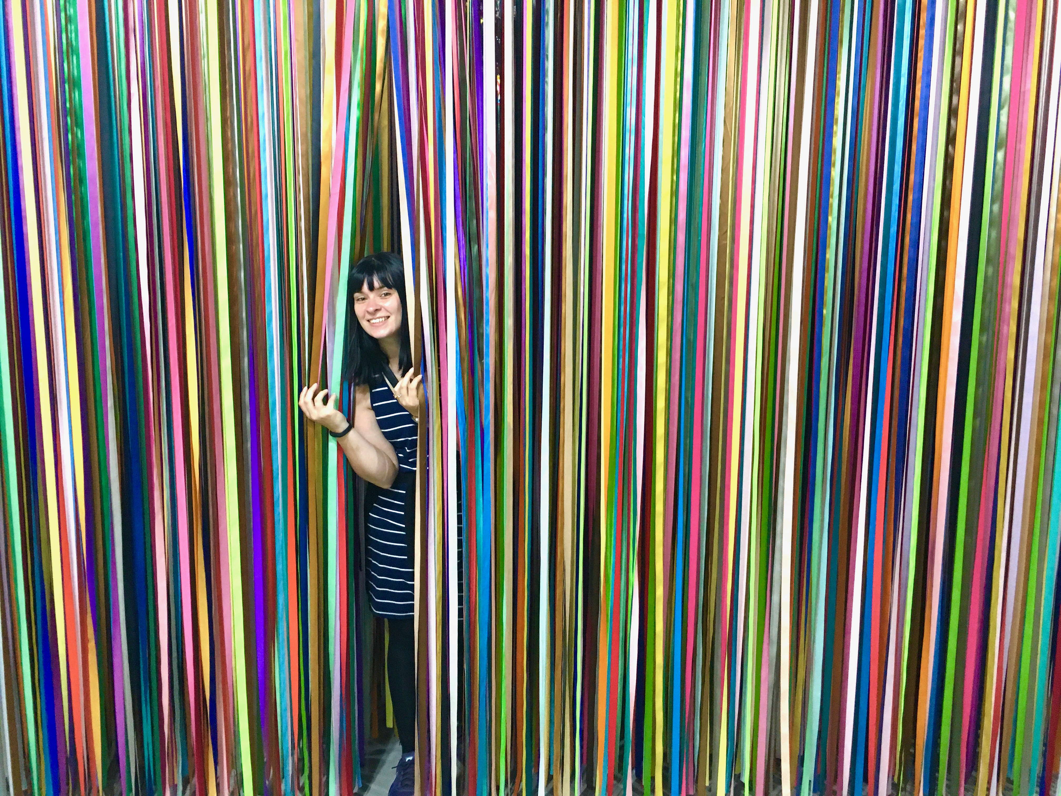 color factory - ribbon wall