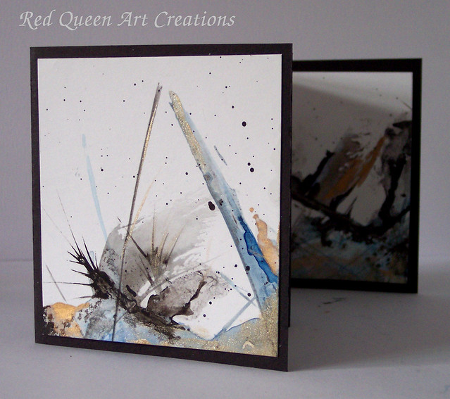 abstract watercolour mini art book 6
