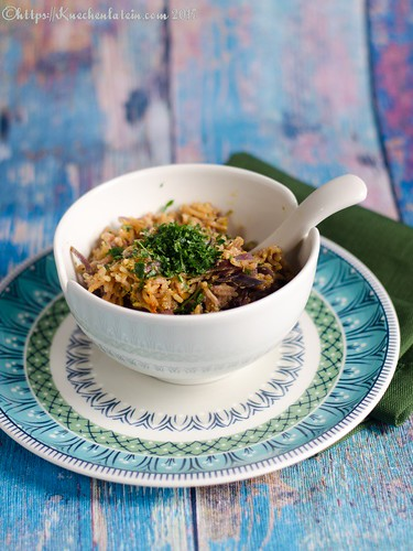 Red cabbage and cashew biryani (1)