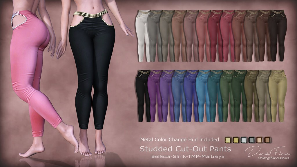 Studded Cut out Pants - TeleportHub.com Live!