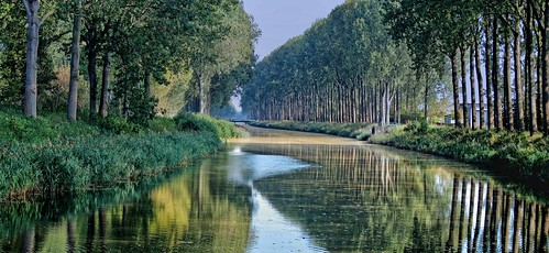 reflectie damme vlaanderen belgium belgië bel westvlaanderen westflanders ベルギー flandern flanders flandre flandes flemishregion flhregion bélgica belgique belgien belgia aaa canons5 tree boom baum flora arbre reflection pano panorama brug bridge pont brücke herhaling repetition thegalaxy