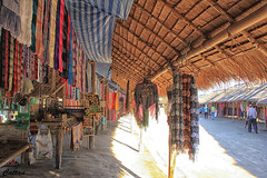 Kayan tribe market stalls - Northern Thailand
