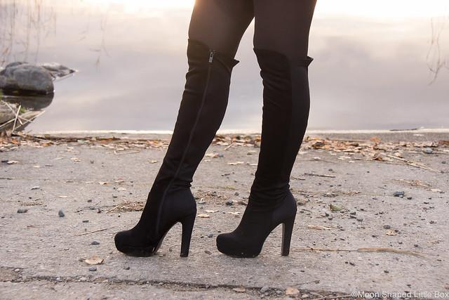 Dame Rose Saappaat Italiasta ylipolvensaappaat pitkävartiset saappaat boots