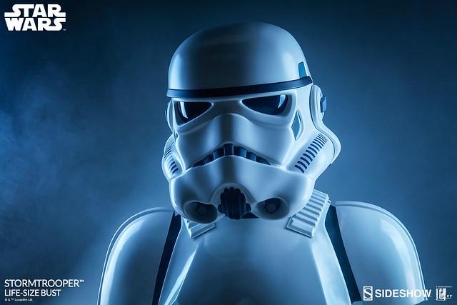 星戰迷的最佳自拍好夥伴!!Sideshow Collectibles 星際大戰【帝國風暴兵】Stormtrooper 1:1 比例半身胸像作品