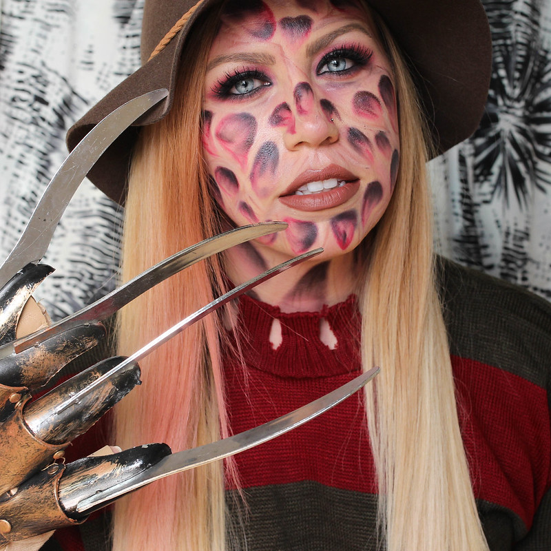 Easy Basic Freddy Krueger Halloween Costume Scary Makeup Tutorial