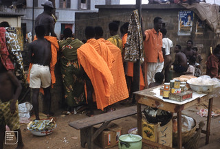 Accra, political meeting, roof audience