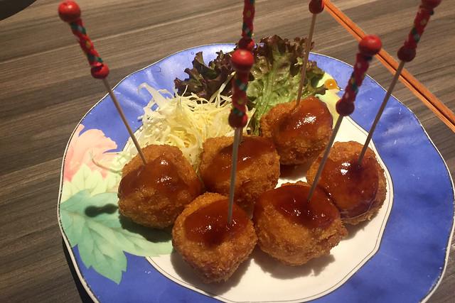 お粥コロッケ (rice paste croket)