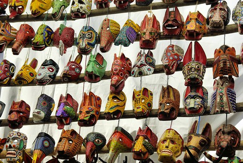 Colorful masks in the market. From When Your Child Joins The Peace Corps In Guatemala: How To Provide Support