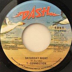 T-CONNECTION:SATURDAY NIGHT(LABEL SIDE-A)