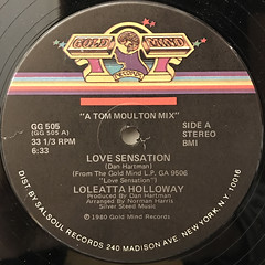 LOLEATTA HOLLOWAY:LOVE SENSATION(LABEL SIDE-A)