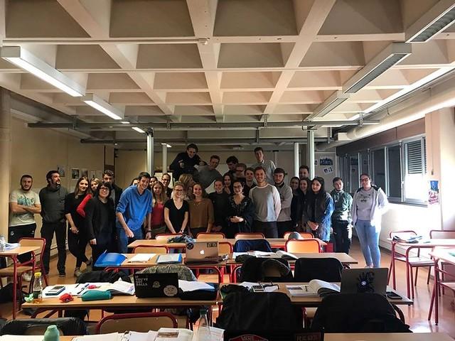 La section « Commerce International » de la Martinière Duchère a reçu 3 étudiants de l'IES El Lago de Madrid