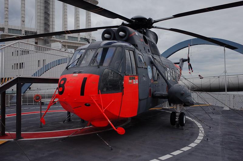 名古屋港南極観測船ふじヘリコプター