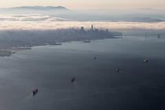 Foggy summer evening in San Francisco