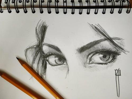 Dibujo de ojos. Libreta A5